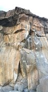 Rock Climbing Photo: Pano of the full route