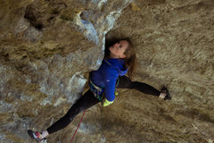 Rock Climbing Photo: Good stemming if you can do the splits!