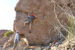 Rock Climbing Photo: Meeker on lead, circa 2014.