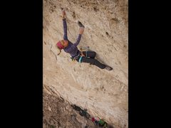 Rock Climbing Photo: Inge Perkins looking strong just having finished t...