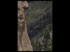 Rock Climbing Photo: Kyle Vassolopolous reaching for the top.  Photo by...