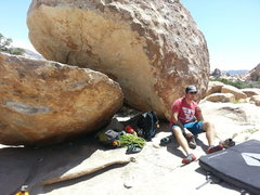 Rock Climbing Photo: siesta under Dino's Egg