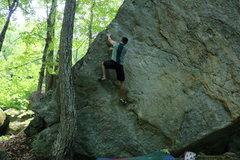 Rock Climbing Photo: Ian getting to the finishing jugs.