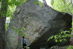 Rock Climbing Photo: The right side of Mammoth rock. This thing is big!