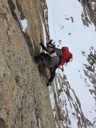 Rock Climbing Photo: Winter Attempt on the Diamond