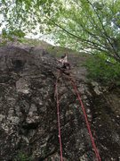 Rock Climbing Photo: Shows the start. Drilling the first bolt