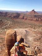 Rock Climbing Photo: Sarah on South Six Shooter