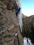 Rock Climbing Photo: Chris on Mixed Feelings