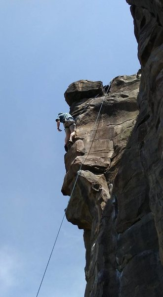 Rock Climbing Photo: Right at the crux.