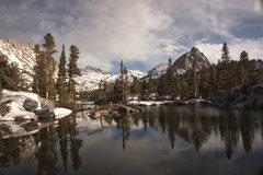 Rock Climbing Photo: Blue Lake and Mount Thompson.