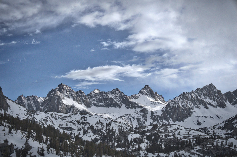 Mt. Haeckel from Blue Lake.
