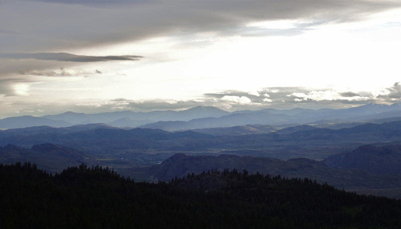 Rock Climbing Photo: View to the SW (towards Tonasket in the Okanogan V...