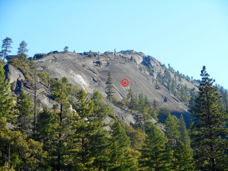 Rock Climbing Photo: Deer Bridge Dome. Photo taken from bridge on Ellis...