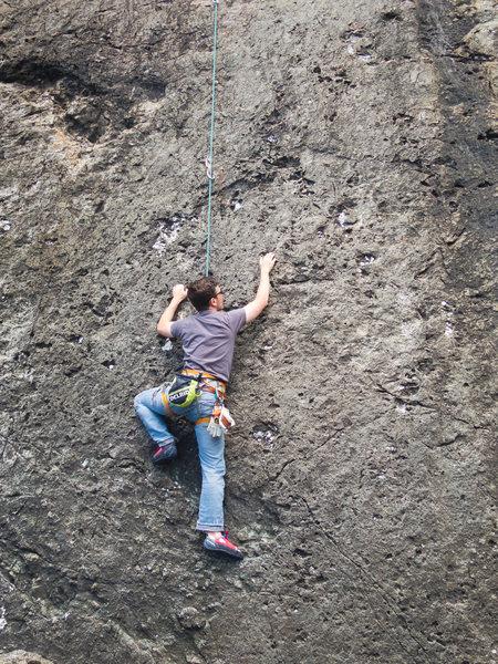 Rock Climbing Photo: Ryder climbing Me First Eyepatch. Fun moves on thi...