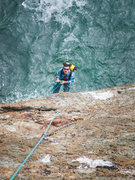 Rock Climbing Photo: What an incredible belay stance!