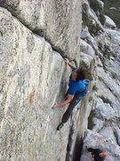 Rock Climbing Photo: The crux sequence!!
