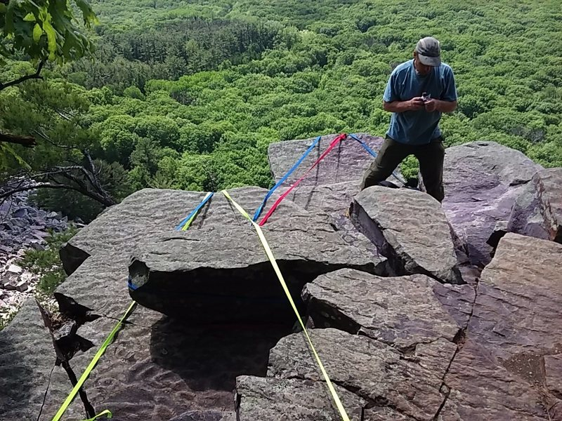 Rock Climbing Photo: Right anchor is on Cheatah. Left is on Ignominy
