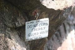Rock Climbing Photo: Route repair
