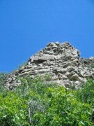 Rock Climbing Photo: Left side of Boot Hill;    Unleash the Kraken goes...