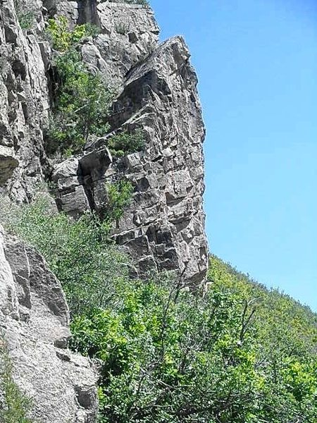 Rock Climbing Photo: Center left of Boot Hill
