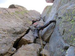 Rock Climbing Photo: Will starting up X-Factor.