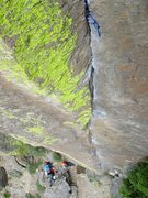 Rock Climbing Photo: Looking down Paul Maul. The cam in the photo was j...