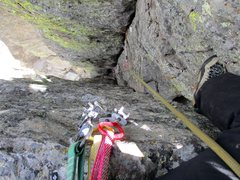 Rock Climbing Photo: Looking down from the top of Entrance Exam.