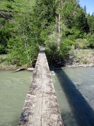 Rock Climbing Photo: The bridge over the river on the approach to Moon ...