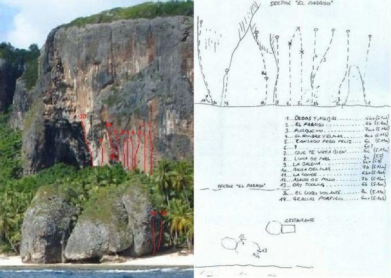 Rock Climbing Photo: Sector Paraiso topo
