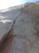 Rock Climbing Photo: Lightning Bolt Crack