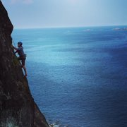 Rock Climbing Photo: Emerson Mann exploring new routes on Sisiman