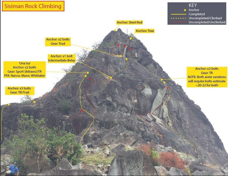 Rock Climbing Photo: Updated Sisiman topo