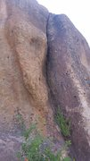 Rock Climbing Photo: Old wave is the slightly overhanging hand crack di...