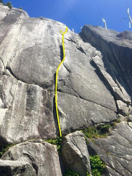 Rock Climbing Photo: Layback Flake Topo