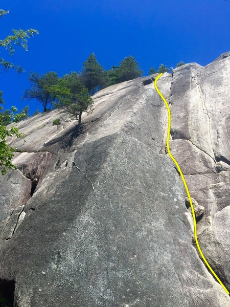 Rock Climbing Photo: Corner Crack Topo