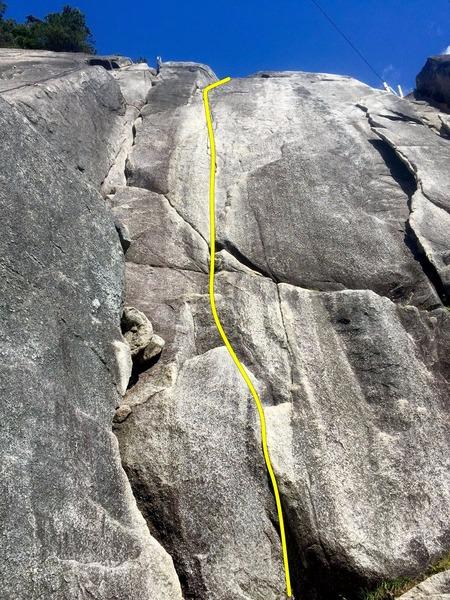 Rock Climbing Photo: Flying Circus Topo