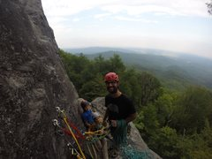 Rock Climbing Photo: 1st Pitch belay ledge