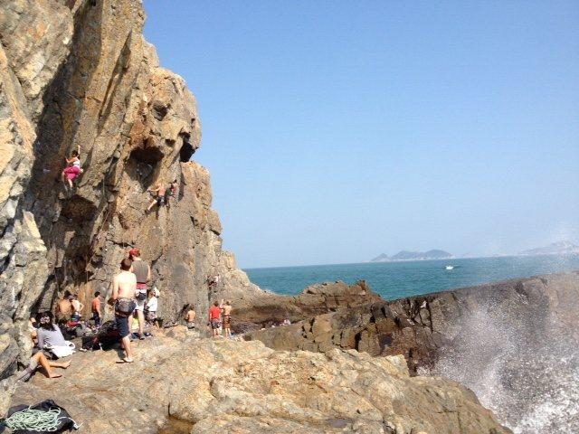 Rock Climbing Photo: Tung Lung's Technical Wall