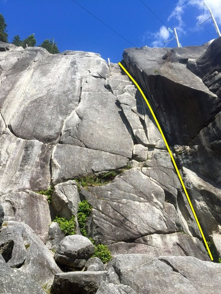 Rock Climbing Photo: Neat and Cool Offwidth Topo