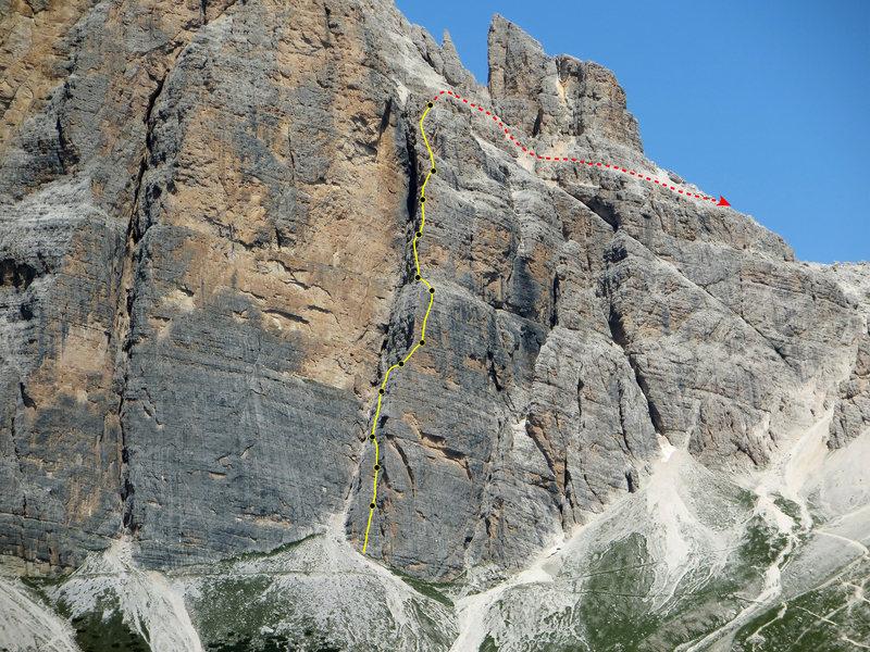 Rock Climbing Photo: Primo Spigolo, a.k.a. South Face Buttress 1, a.k.a...