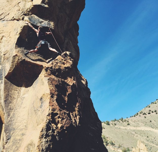 Rock Climbing Photo: Chasing Blue Sky