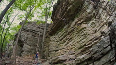 """Rock Climbing Photo: The roof of """"Leading Should Feel This Way.&qu..."""