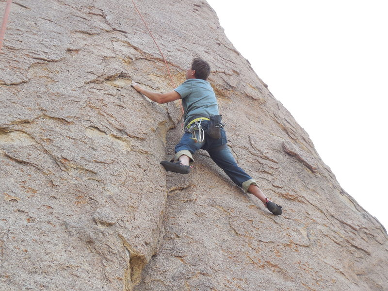 Rock Climbing Photo: Working Dihedral Dance.