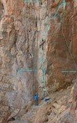 Rock Climbing Photo: Ken and Ed - route Topo Hide & Seek(a) 5.11c