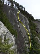 Rock Climbing Photo: Slap and Tickle Topo
