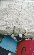 Rock Climbing Photo: Fire Sale (V4) at the Split Boulders.