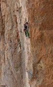 Rock Climbing Photo: Ken starts into the 5.11 climbing  Hide & Seek(a) ...