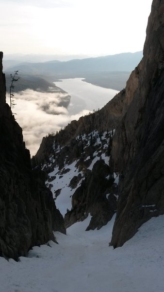 Rock Climbing Photo: Looking down the couloir
