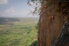 Rock Climbing Photo: Getting into the first crux