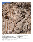 Rock Climbing Photo: Beta photo of the South Face of Bob's Rock.